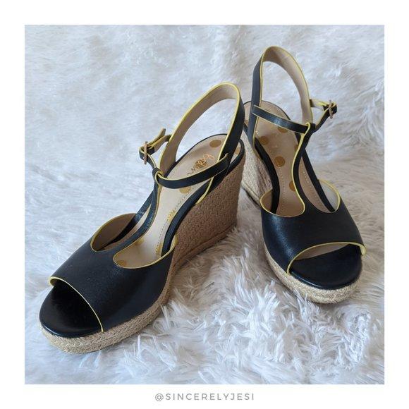 Boden ▪ Navy Carrie Espadrille Wedge Heels